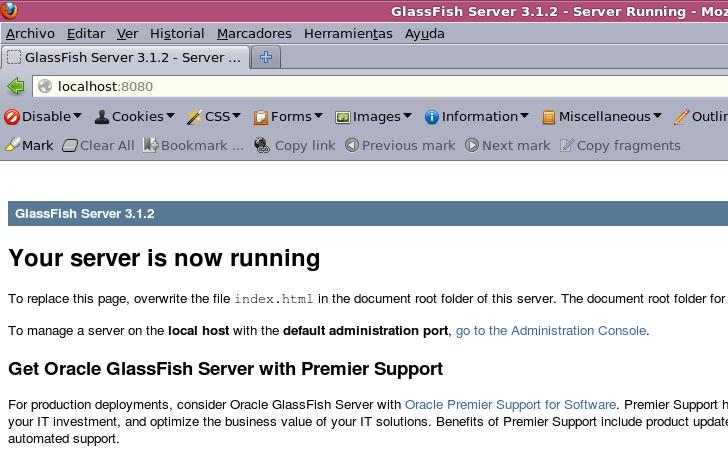 Glassfish corriendo!